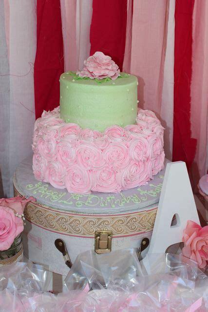 rose themed birthday cake rose theme 1st birthday birthday party ideas rose