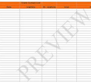 client list template client list template images