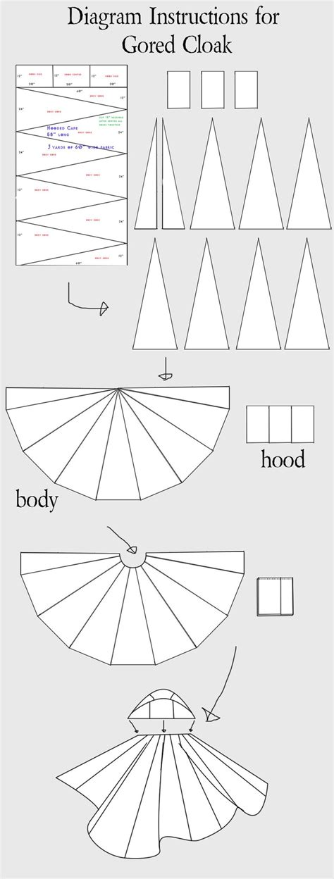 cloak template 39 best garb patterns images on