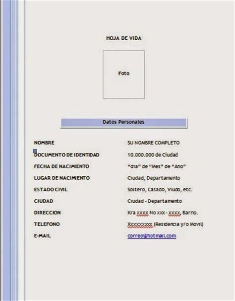 Descargar Formatos Para Hojas De Vida Gratis | descargar formato hoja de vida 002 hojadevida