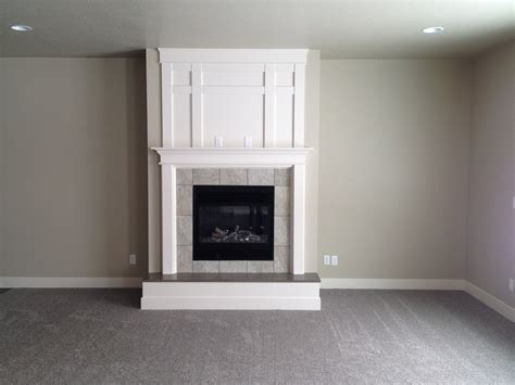 rocky mountain paint grade with raised hearth and trim