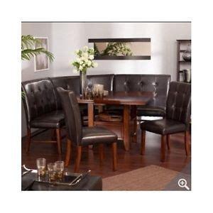 Leather Kitchen Nook Corner Breakfast Nook Table Set On Popscreen