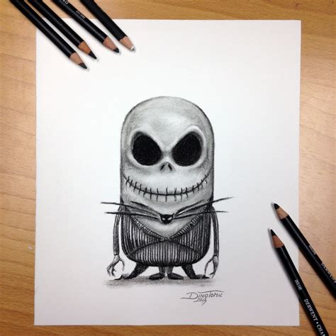 imagenes de jack minnion jack skellington drawing by atomiccircus on deviantart
