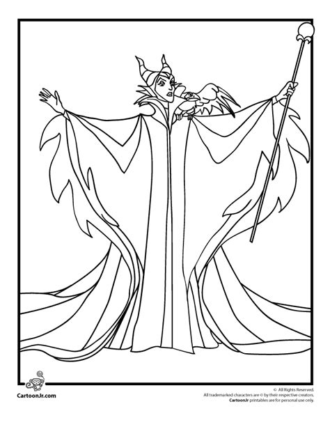 Sleeping Beauty Coloring Pages Maleficent Coloring Page Maleficent Coloring Pages