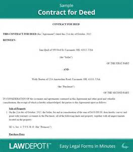 Free Contract For Deed Template by Land Contract Forms Free Contract For Deed Form Us