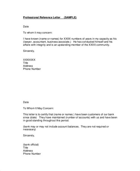 accountant reference letter templates 9 free word pdf
