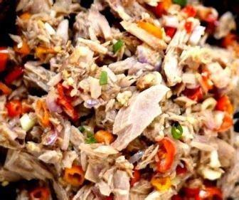 resep masakan indonesia resep tongkol suwir sambal matah
