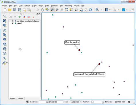 tutorial on vector analysis nearest neighbor analysis qgis tutorials and tips