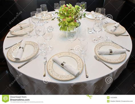 fancy place setting fancy table set for a dinner royalty free stock image