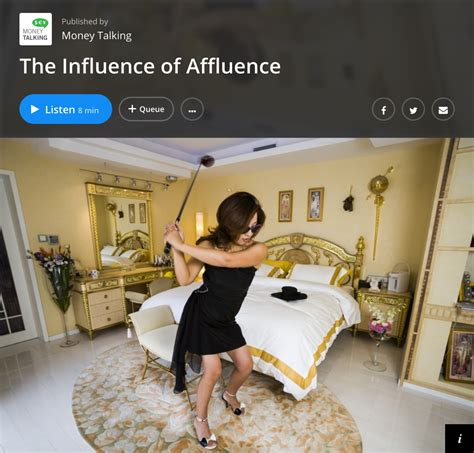 Money Talking wnyc money talking s quot the influence of affluence quot with