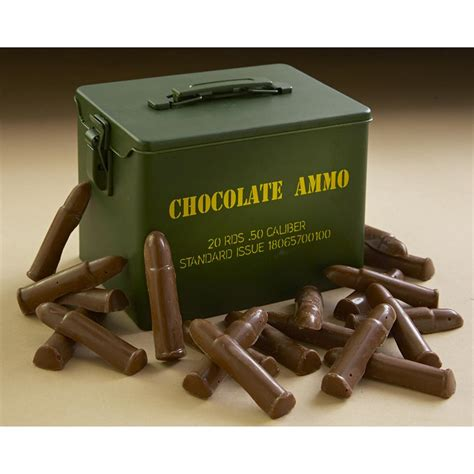 gifts for hunters chocolate bullet style collectors tin prepping