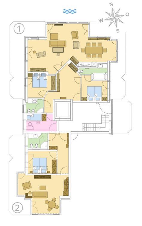 3 schlafzimmer 2 bad grundrisse strandresidenz k 252 hlungsborn exklusive ferienwohnungen ostsee
