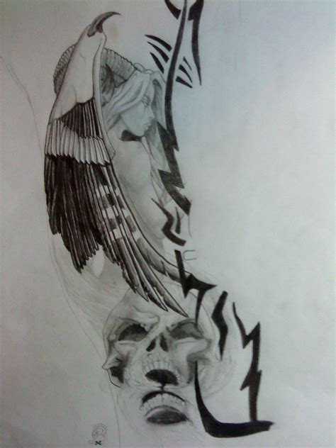angel of death tattoo designs of design by antiengelchen on deviantart