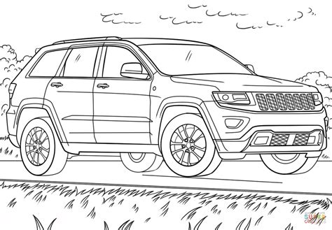 jeep coloring pages jeep grand coloring page free printable
