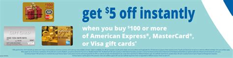 Meijer Gift Card Gas - 5 off 100 visa mastercard and amex gift cards at meijer frequent miler