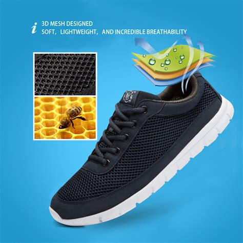 brand casual shoes breathable lace up walking shoes