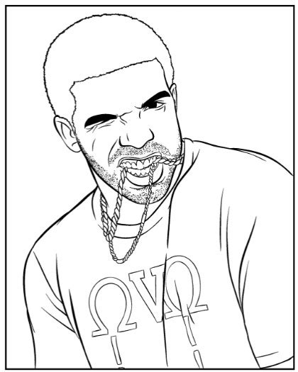 coloring pages rappers drake rapper coloring page coloring home