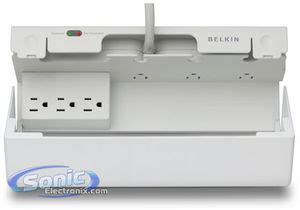 Belkins Concealed Surge Protector Keeps All Those Wryly Plugs Neat And Tidy by Belkin Bz107000 06 7 Outlet Small Conceal Surge Protector