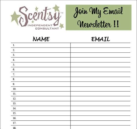 email sign up sheet template forms and sign up sheets images