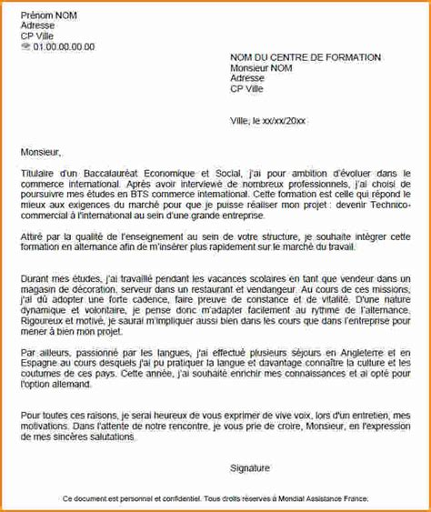 Lettre De Motivation Ecole Alternance Bts 7 Lettre De Motivation Pour Un Apprentissage Exemple Lettres