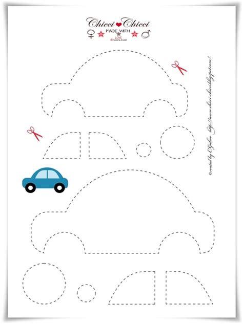 pattern felt car plantilla de coche para manualidades infantiles en fieltro