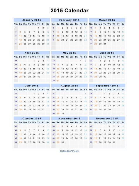 printable calendar 2015 in excel pdf calendar 2015 free pdf calendar template 2 chainimage