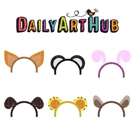 free printable animal ears animal ears clip art set daily art hub free clip art