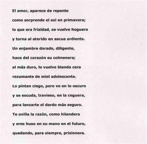 imagenes sensoriales del soneto xxiii soneto amor images