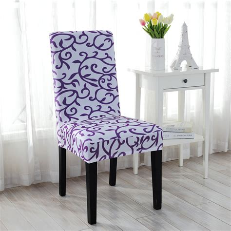 elastic floral chair covers stretch slipcover short dining room stool seat cover ebay