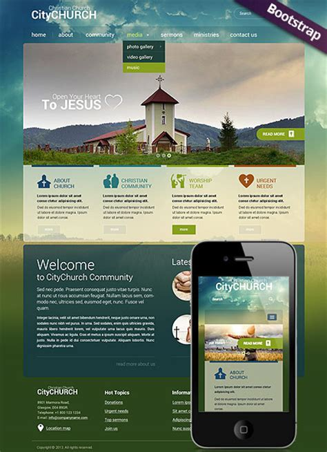 Responsive Church Twitter Bootstrap Html Template 111699 Simple Templates Church Website Templates