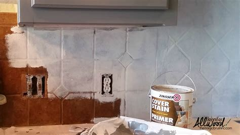 paint kitchen tiles backsplash how to paint kitchen tile and grout an easy kitchen update