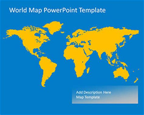 Worldmap Powerpoint Template For Microsoft Powerpoint World Map Powerpoint Template