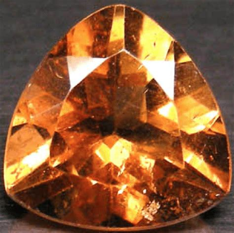 Imperial Chagne Topaz 12 80ct 5 41ct imperial topaz trilliant cut gemstone