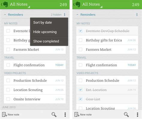 reminders android evernote adds custom reminders to its android app
