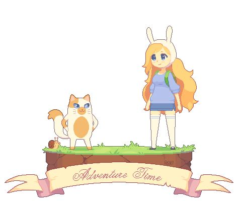 pixel fionna and cake by dav 19 on deviantart