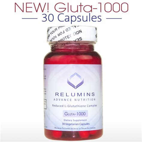 Gluta Glutathione authentic relumins advance nutrition reduced l glutathione