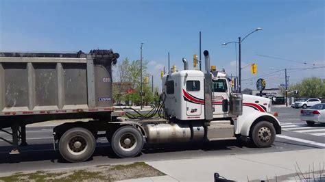 kenworth toronto peterbilt 367 kenworth t800 hauling gravel toronto