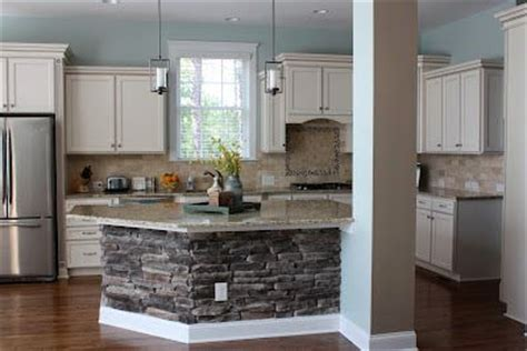 stone island kitchen beautiful kitchen remodel copen blue walls stone on