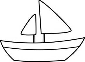 simple boat template sailing ship clip cliparts co