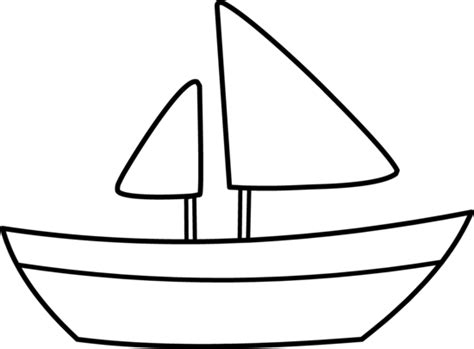 boat outline picture cartoon boat outlines clipart library