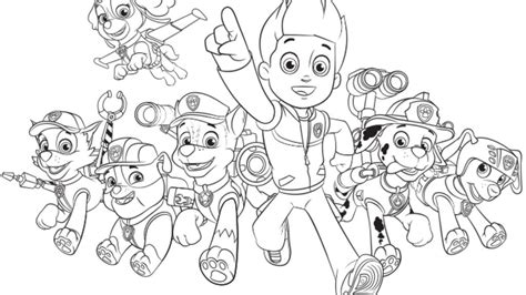 Paw Patrol Group Coloring Pages | paw patrol coloring pages coloring page