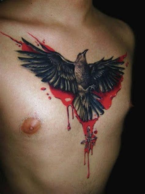 raven tattoo on chest chest raven tattoo design tattoo designs for men pics of