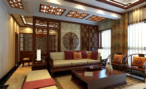 Godrej Kitchen Interiors 3d house living room chinese retro style 3d house