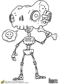 11 meilleures images du tableau Coloriage robot   Coloring