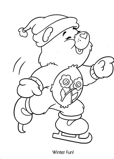 Free Coloring Pages Of Bedtime Care Bear Care Colouring Pages
