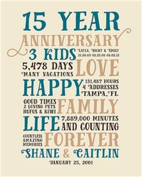 15 Year Anniversary Present, Fifteen Year Wedding