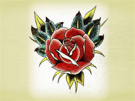 rose tattoo traditional traditional free designs traditional