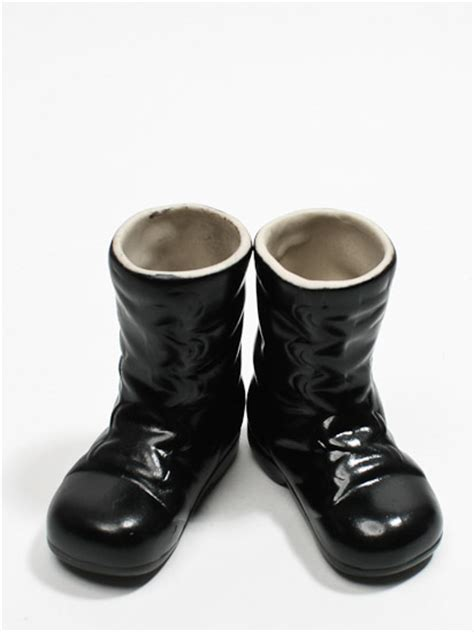 black doll boots black porcelain santa doll boots doll supplies