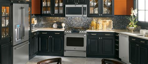 kitchen cabinets black appliances with stainless steel