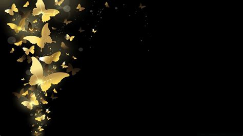 wallpaper gold butterfly golden butterflies android wallpapers for free